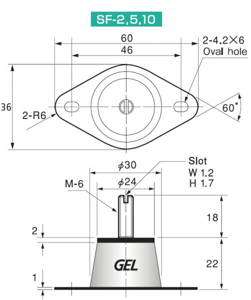 Taica Insulator Schwingungsdämpfer α-Gel