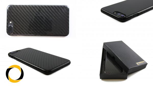 Echt Carbon Cover Apple iPhone 7 Plus Schutzhülle matt oder glänzend Hardcover