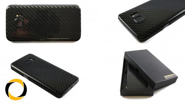 Echt Carbon Cover Samsung Galaxy S7 Schutzhülle matt oder glänzend Hardcover