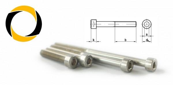 Zylinderkopfschraube V4A DIN 912 M4
