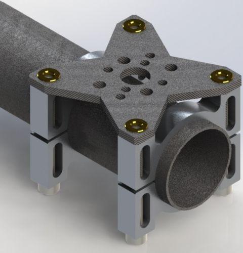 Universal Motorhalter 25mm Black