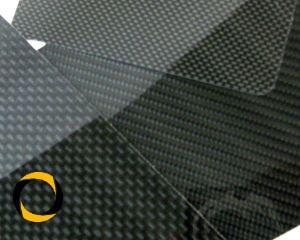 CFK-Hochglanzplatte Leinwand Zuschnitt 1,5mm Stärke
