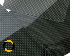 CFK-Hochglanzplatte Köper Zuschnitt 1mm Stärke