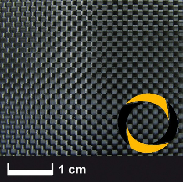 Kohlegewebe 120 g/m² (Leinwand) 100 cm