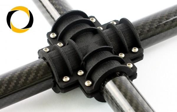 Carbon Rohr X-Verbinder Gimbal