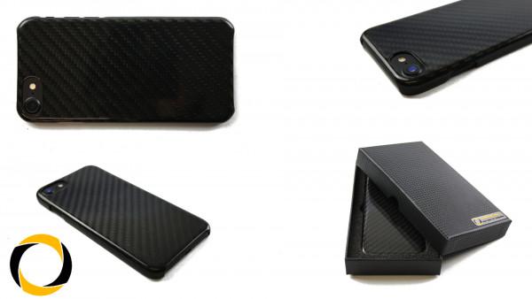 Echt Carbon Cover Apple iPhone 7 Schutzhülle matt oder glänzend Hardcover