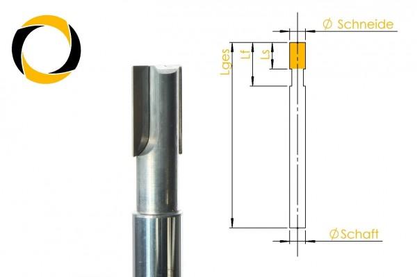PKD Diamant Schaftfräser für Carbon Zweischneider