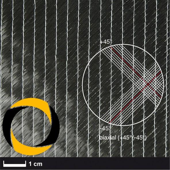 Kohlegelege 100 g/m² (biaxial, 24k) 127 cm